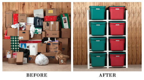 Before and After - Bin Warehouse Tote Storage Systems – Get Decluttered Now!