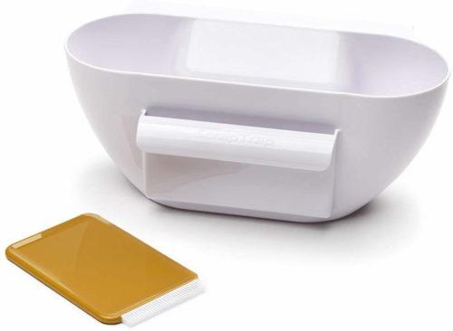 Scrap Trap with Scraper/Brush - KitchenArt Scrap Trap – Get Decluttered Now!
