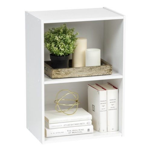 Iris USA CX-2 Brights 2-Tier Wood Storage Shelves - Low Priced Wood Shelves - Iris USA Brights: Wood Shelves, Bins and Cubes - Get Decluttered Now!