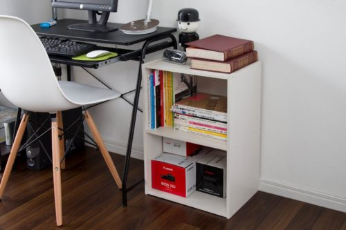 Practical for the office - Iris USA CX-2 Brights 2-Tier Wood Storage Shelves - Low Priced Wood Shelves - Iris USA Brights: Wood Shelves, Bins and Cubes - Get Decluttered Now!