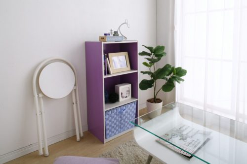 Iris USA TSB-3 Brights 3-Tier Wood Storage Shelves are available in white, natural wood finishes or cheerful bright colors. - Iris USA Brights: Wood Shelves, Bins and Cubes - Get Decluttered Now!