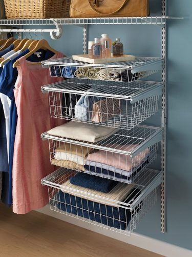 ClosetMaid 4-Drawer Kit is available in White or Nickel finish - ClosetMaid 4-Drawer Kit - Get Decluttered Now!