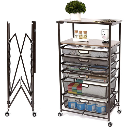 Origami Racks are even available with drawers! - Origami Unfold and Ready To Go Shelves, Racks and Carts – Get Decluttered Now!