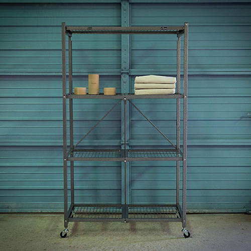 Origami Organizing Solutions Sturdy enough for the garage, they hold up to 1000 pounds! No-Assembly Required - Origami Unfold and Ready To Go Shelves, Racks and Carts – Get Decluttered Now!