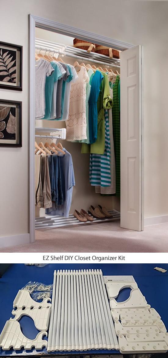 EZ Shelf DIY Closet Organizer Kit