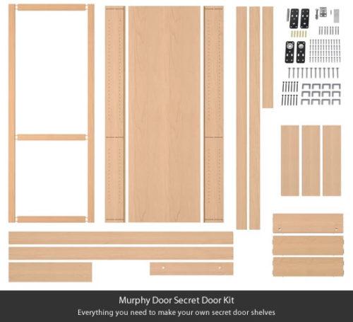 Murphy Door Secret Door Kit: Pre-cut, easy-to-assemble DIY kit to make your own bookcase that is actually a secret door.