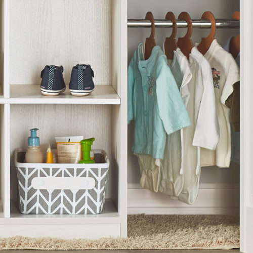 When your little ones can easily reach their clothes, they can choose their own outfits without turning their closet into disaster area.
