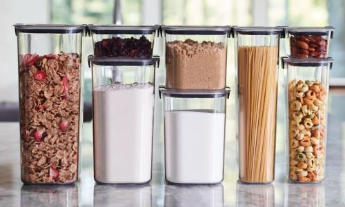 Buy Rubbermaid Pantry Containers as sets or individually.