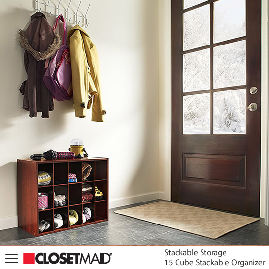 Closetmaid 15 Cube Stackable Organizer in Dark Cherry finish