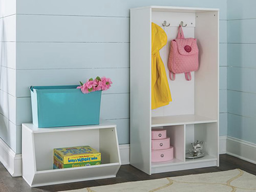 ClosetMaid 1627 Aqua Wide Wire Frame Bin ClosetMaid KidSpace 1493 Angled Organizer ClosetMaid KidSpace 1499 Storage Locker